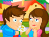 Couple Kissing In The Park Game