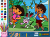 Dora And Diego Coloring Game