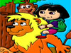 Dora color painting game